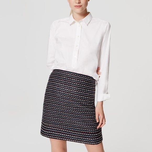 LOFT Dresses & Skirts - LOFT • Colorful Tweed Skirt